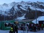 Aprés-Ski-Party auf dem Sportplatz in Saas-Fee.