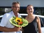 Blumen machen Freude: Christian Müller und Stefanie Vögele.